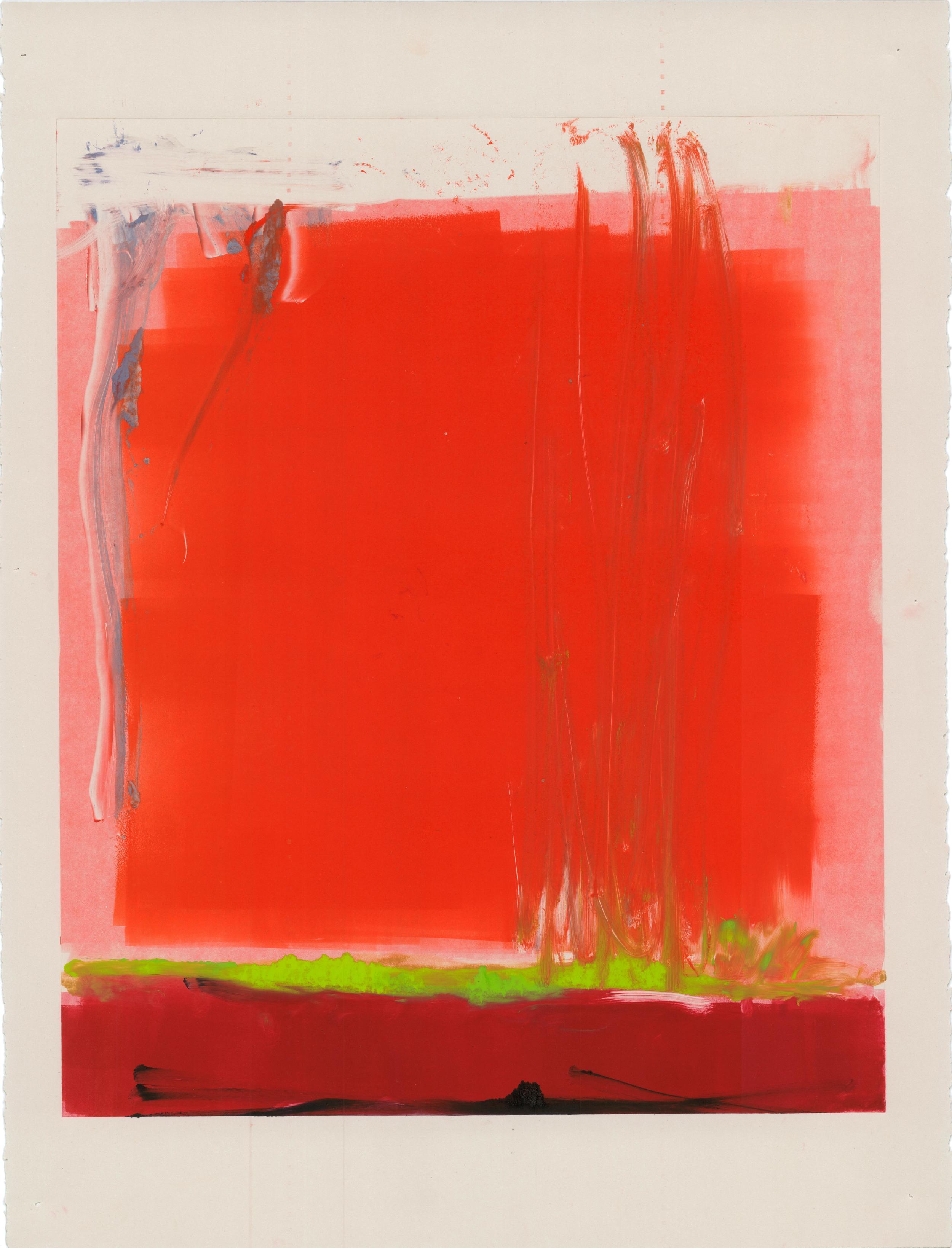 Red, Monoprint, 2013