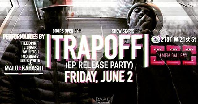 """Really, Really!! Can't wait for this one.  This Friday, there will be an exciting, fresh, and Dope music event. So happy to be involved as exec producer on this album """"TrapOFF"""" by @malobrigade & @urankabashi . This album is 💯% 🔥. There will performances from amazing artist / music video shoot. Hope to see y'all there. Im expecting ahella friends/  fam faces there.😊 I will also be performing there to so if u haven't seen me yet, this is the best place for it."""
