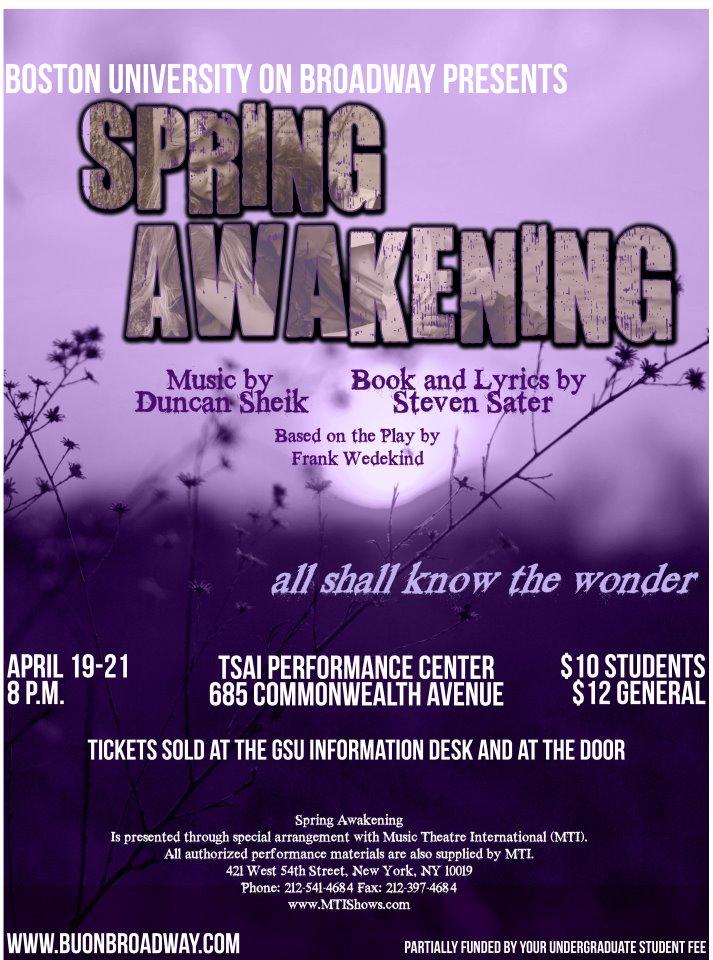 """""""Spring Awakening""""  Spring 2012"""