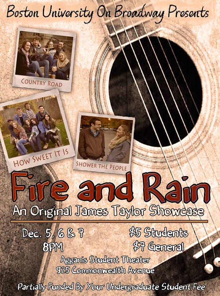 """Fire and Rain"" Fall 2013"