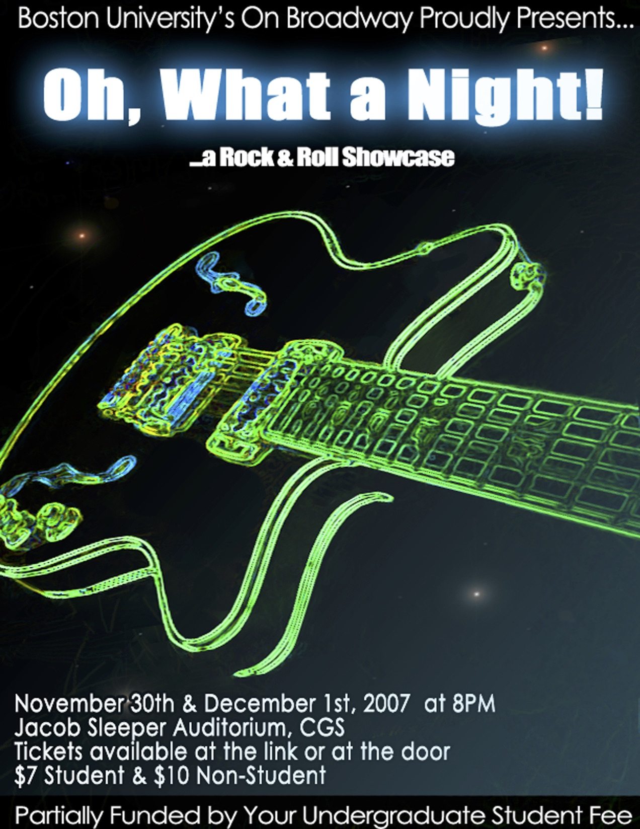 """Oh, What a Night: A Rock & Roll Showcase""  Fall 2008"