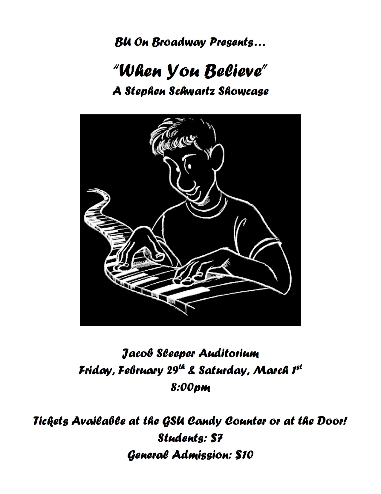 """When You Believe: The Songs of Stephen Schwartz""  Spring 2008"