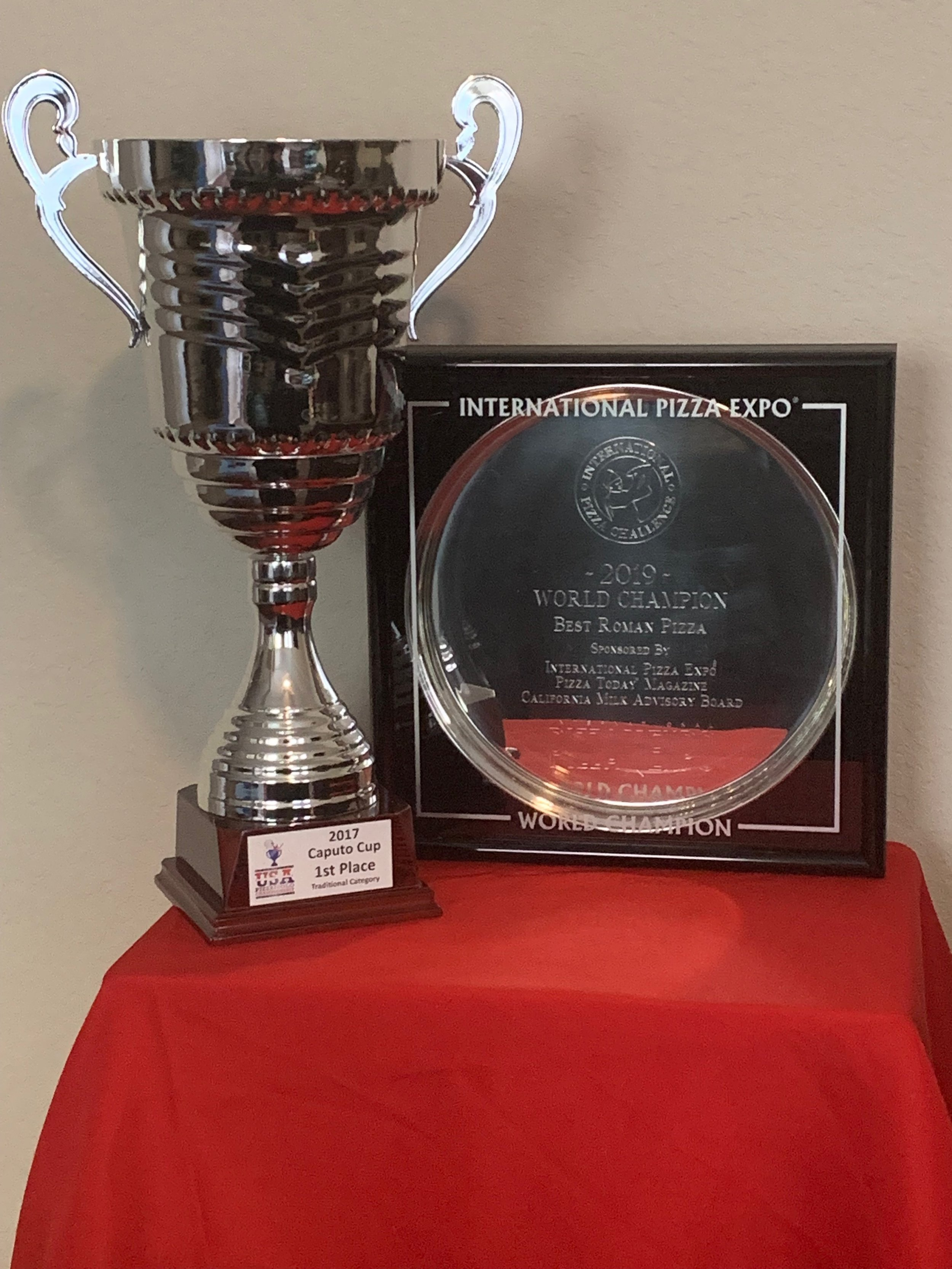 Caputo Cup Champions 2017 and International Pizza Challenge Champions 2019 - Best Traditional PizzaandBest Roman Pizza