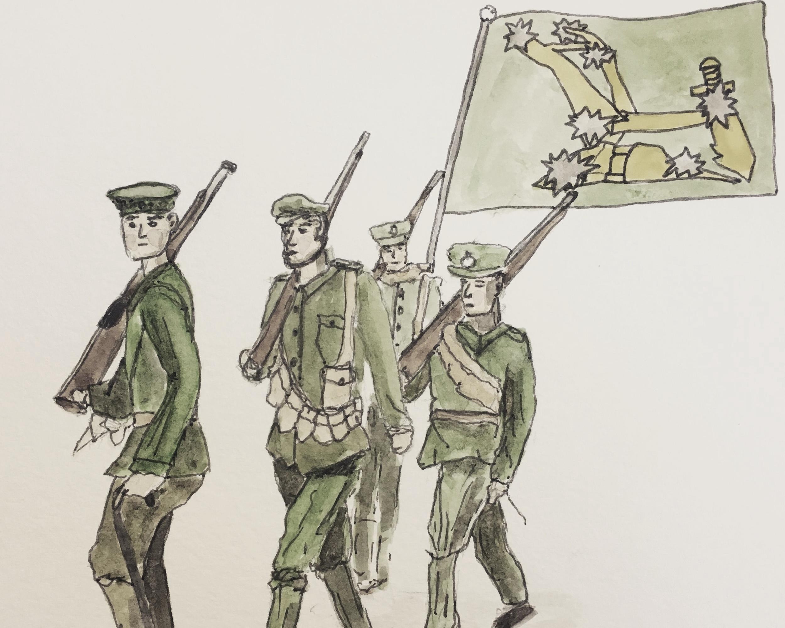Irish Citizen Army Marching