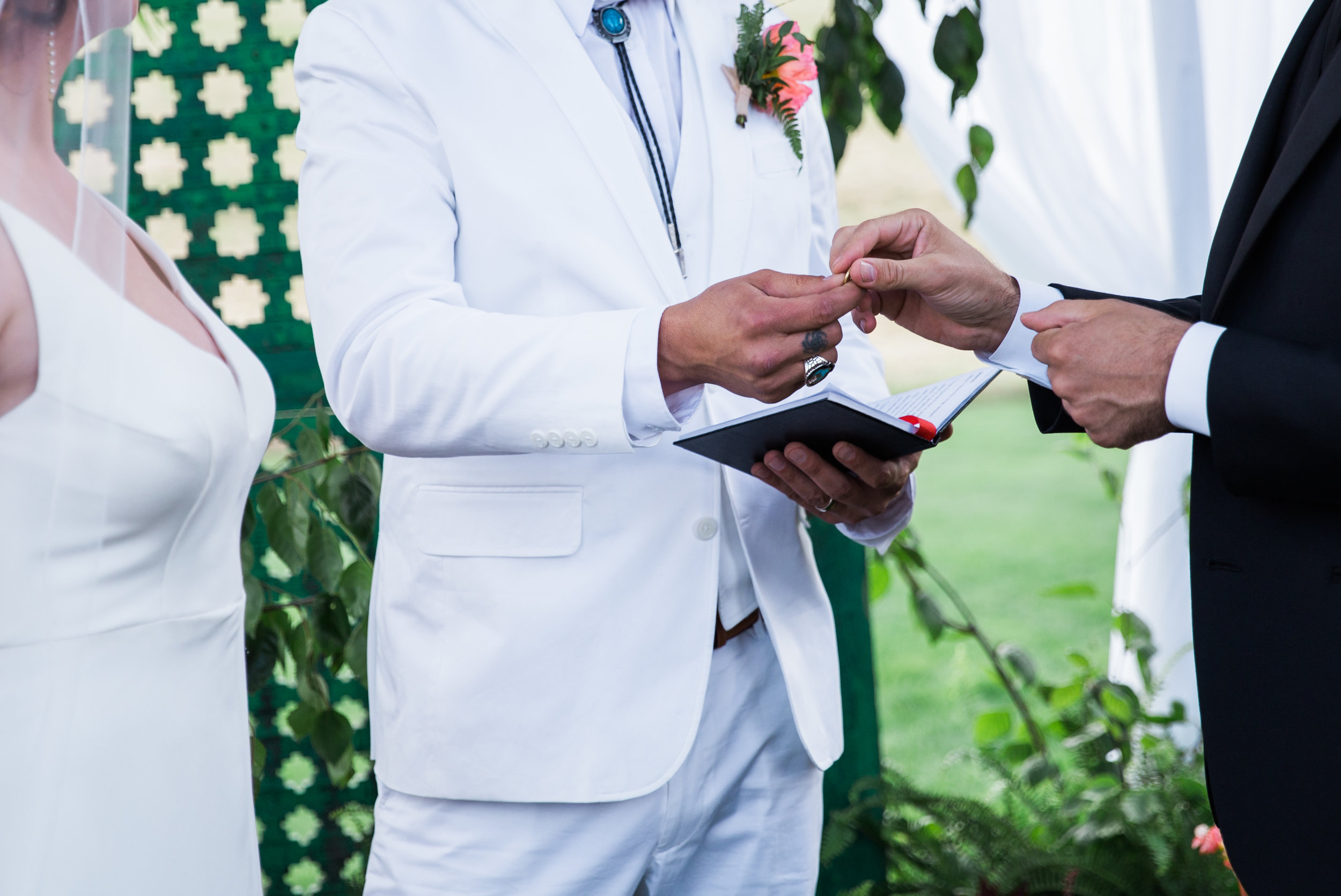 wedding ring exchange during the ceremony