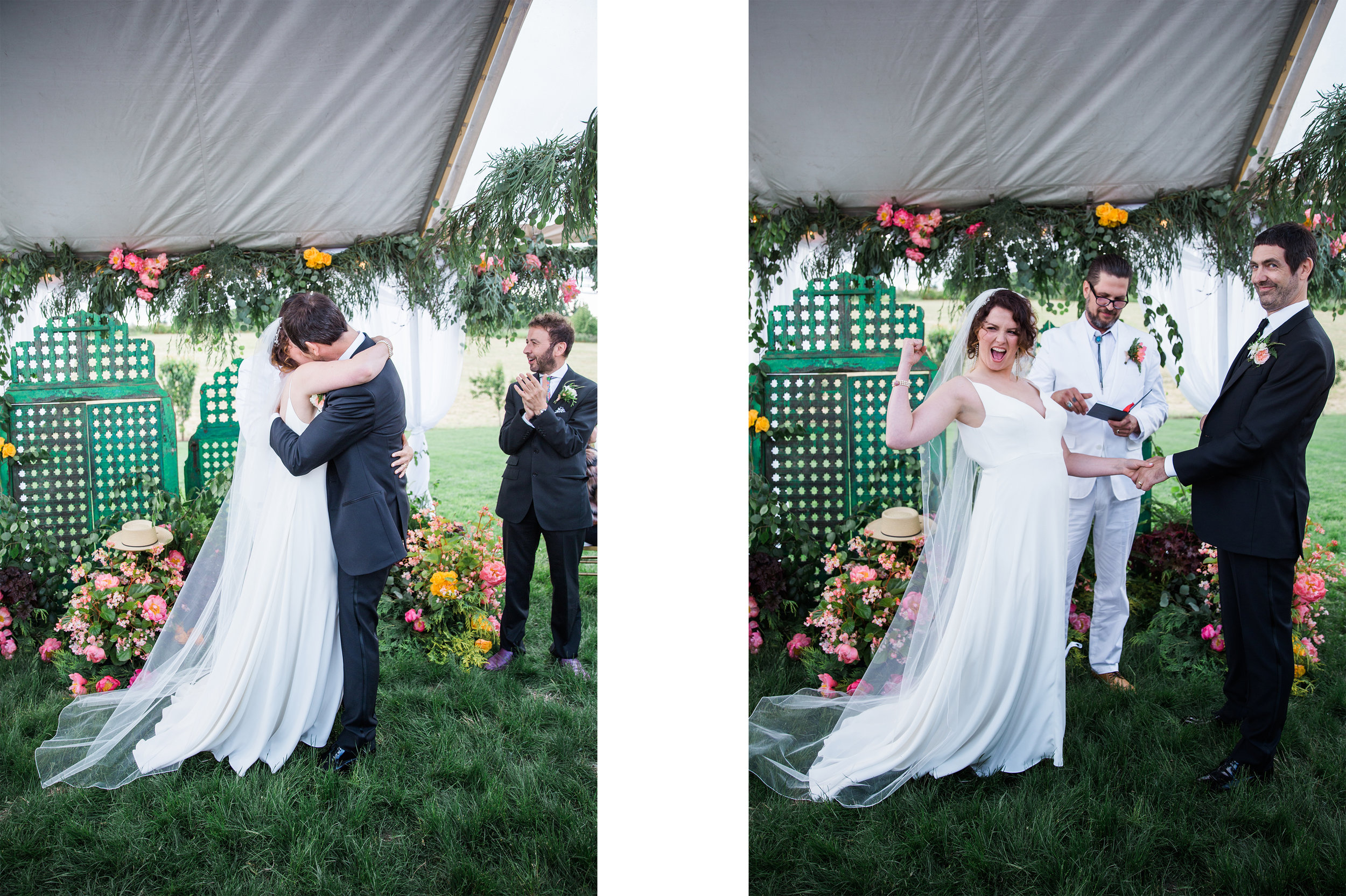 you may now kiss your bride reaction