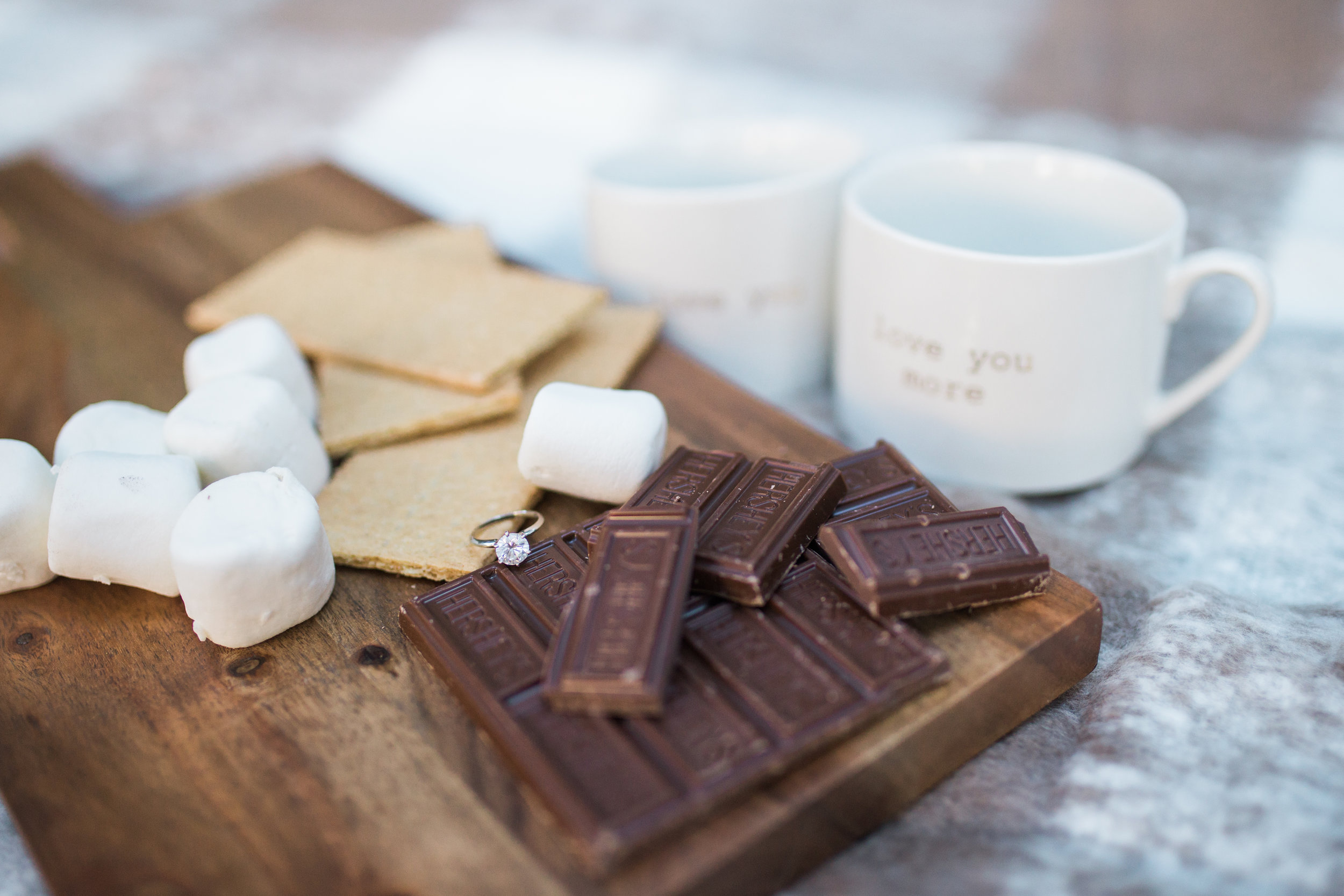 Engagement ring and smores