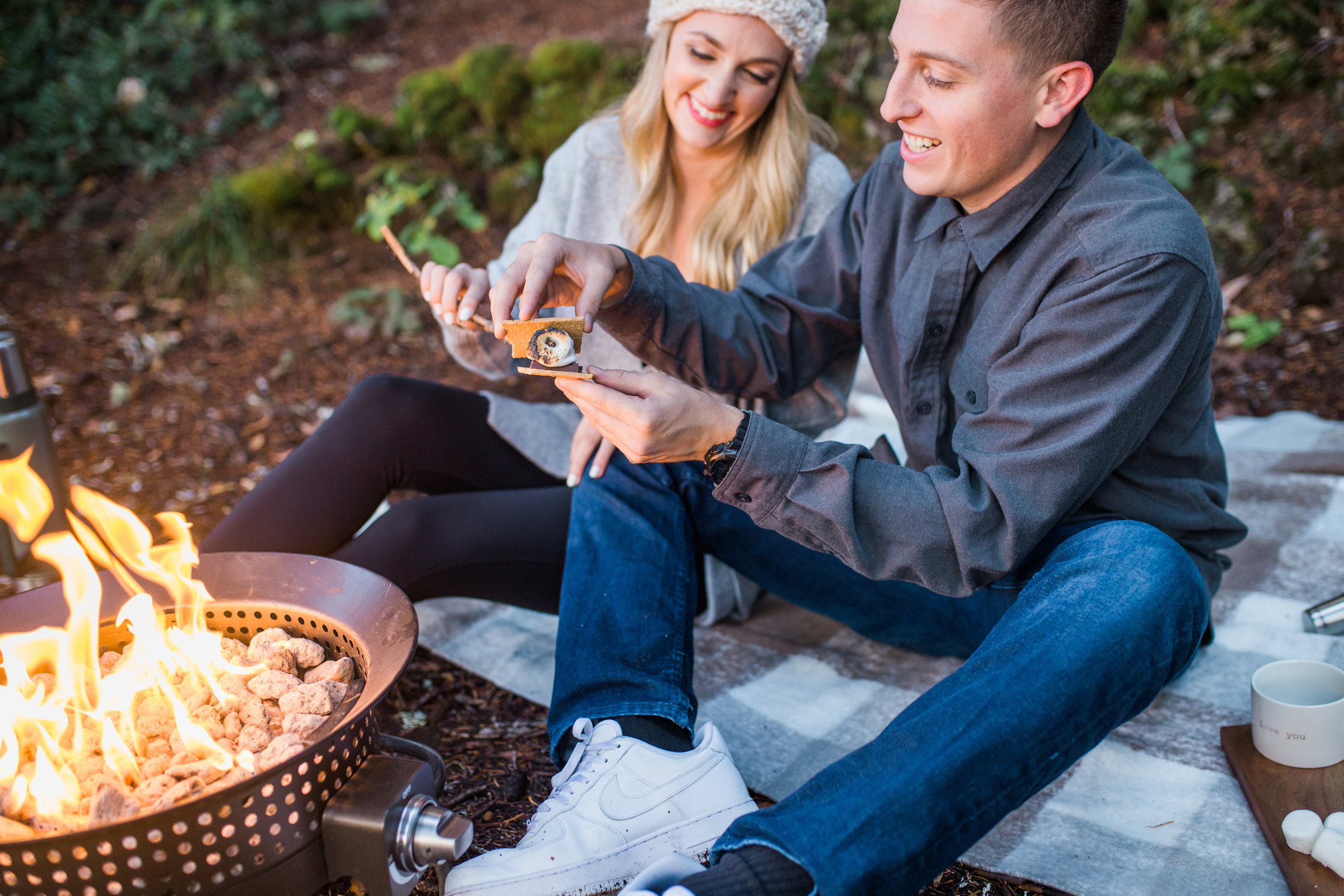 Smores during an engagement session