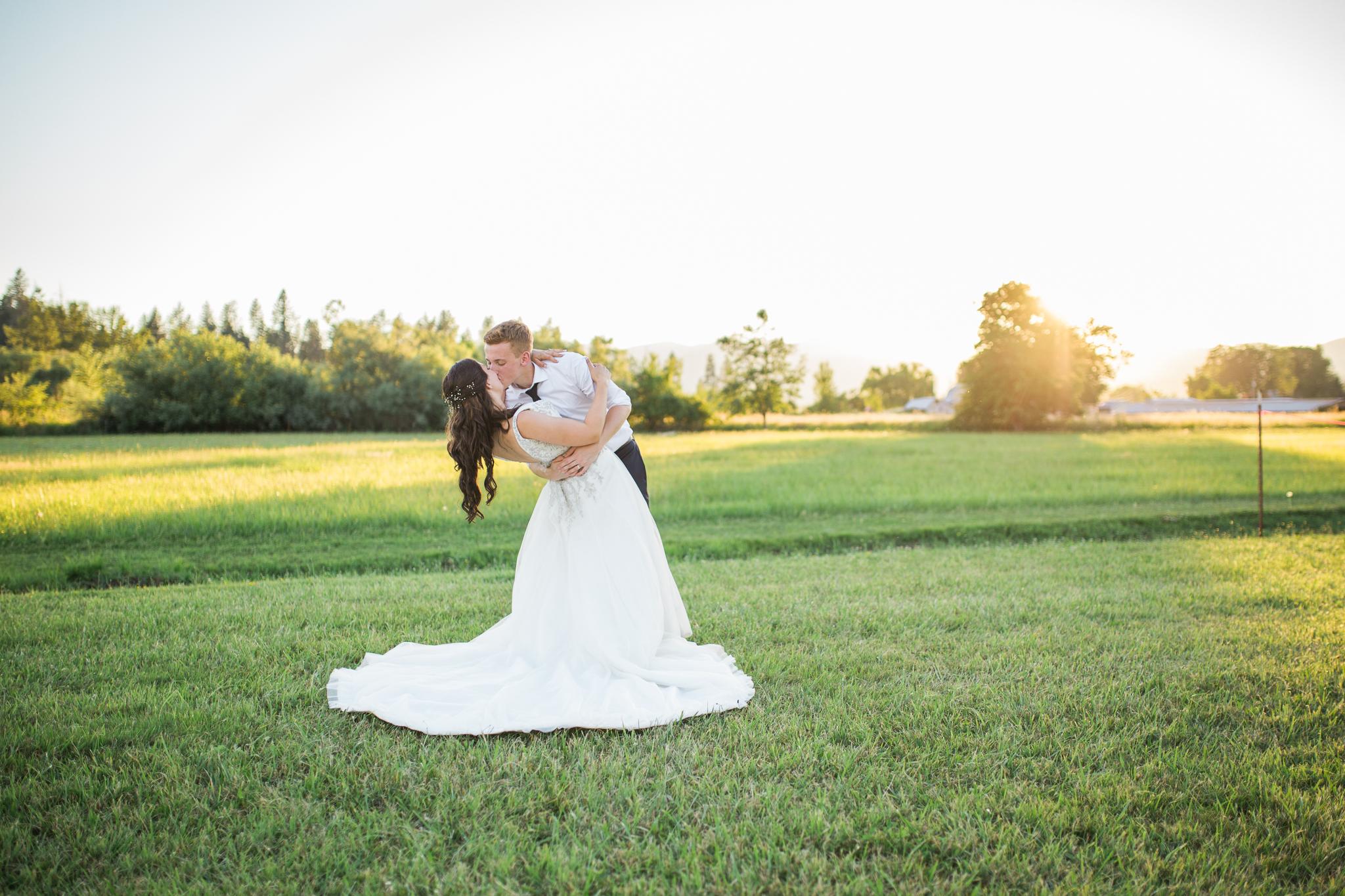 Bride and groom dip oregon wedding .jpg