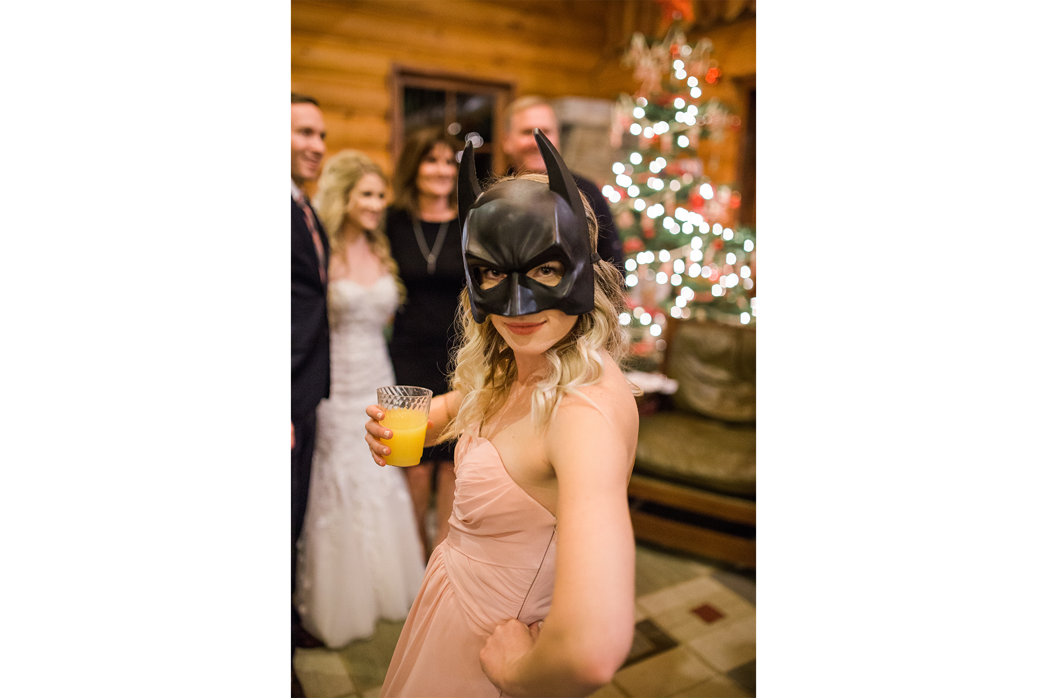 This batgirl bridesmaid