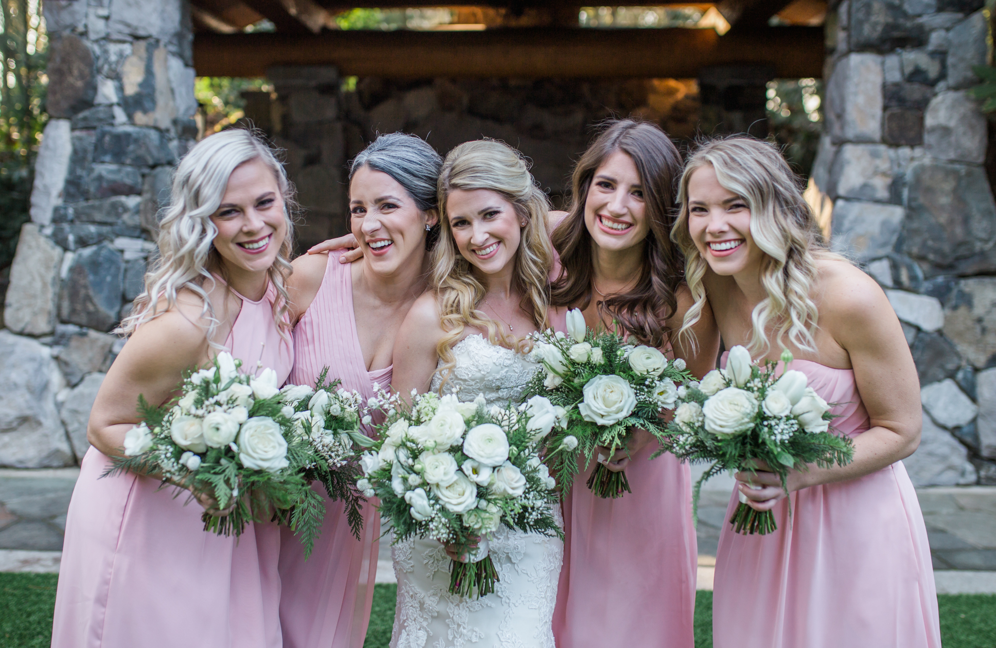Ridgefield, WA wedding photographer, summit grove lodge weddings, bridesmaids photos