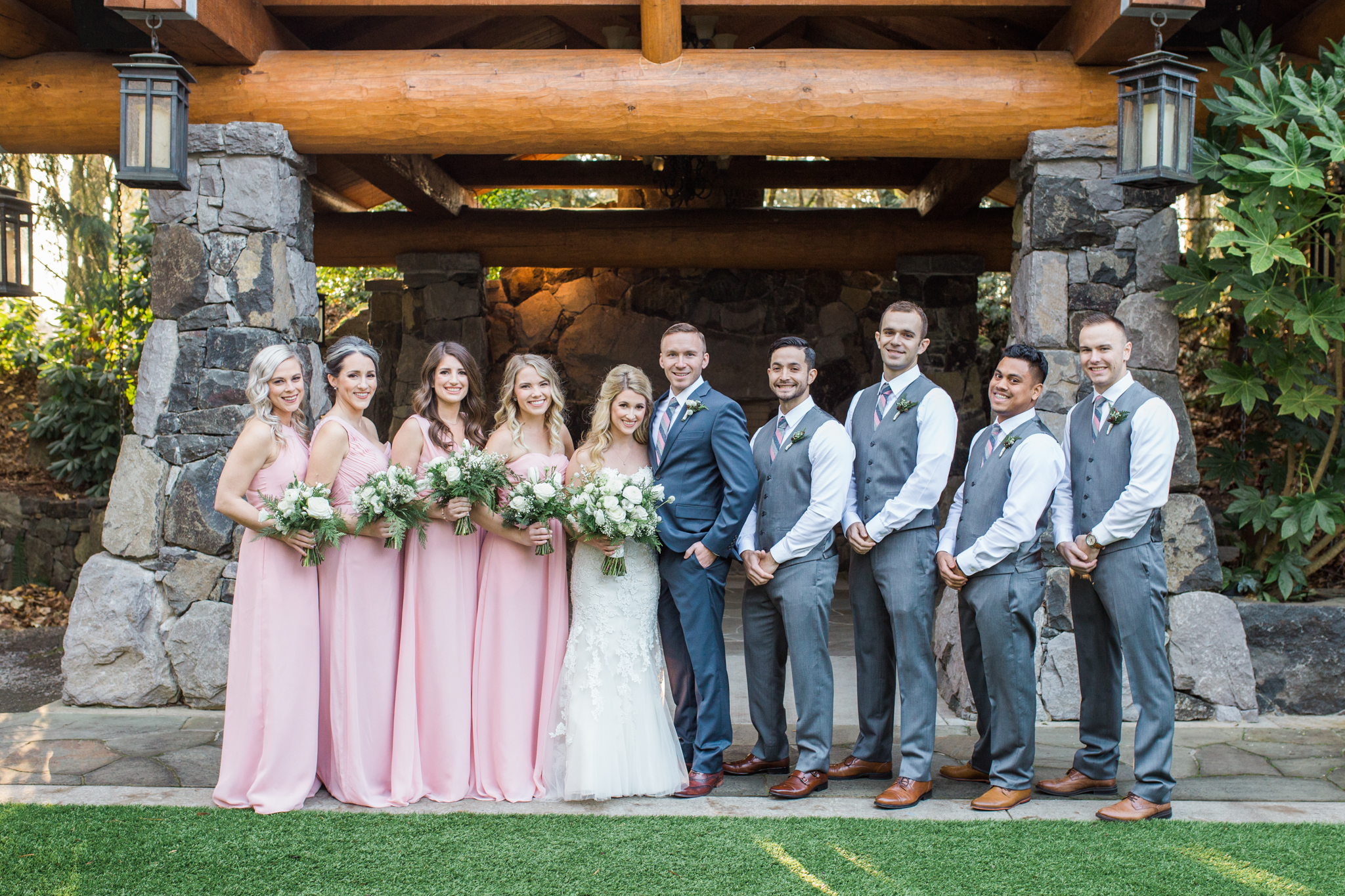 Ridgefield, WA wedding photographer, summit grove lodge weddings, bridal party photos