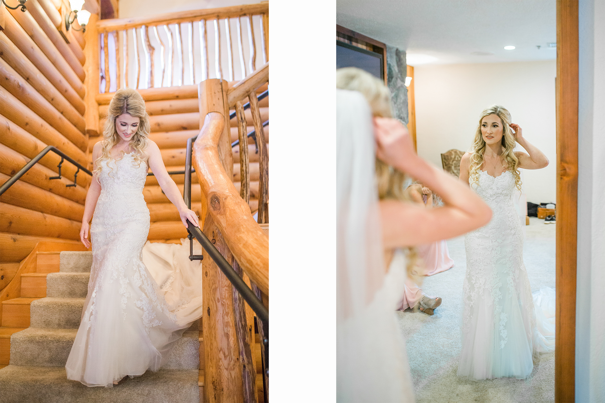 Ridgefield, WA wedding photographer, Summit Grove Lodge wedding, bride getting ready photos