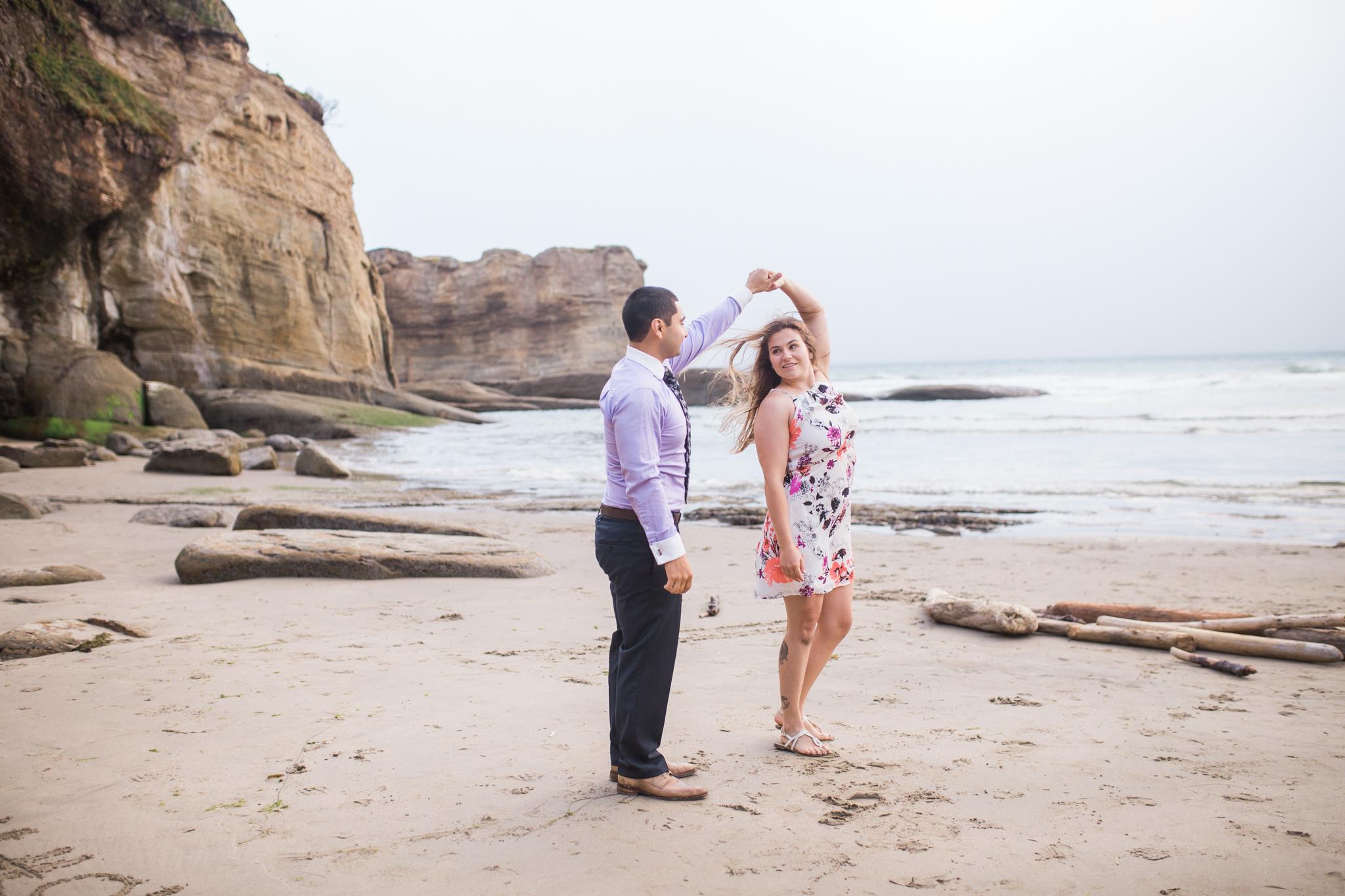 Oregon coast engagement session, oregon wedding photographer