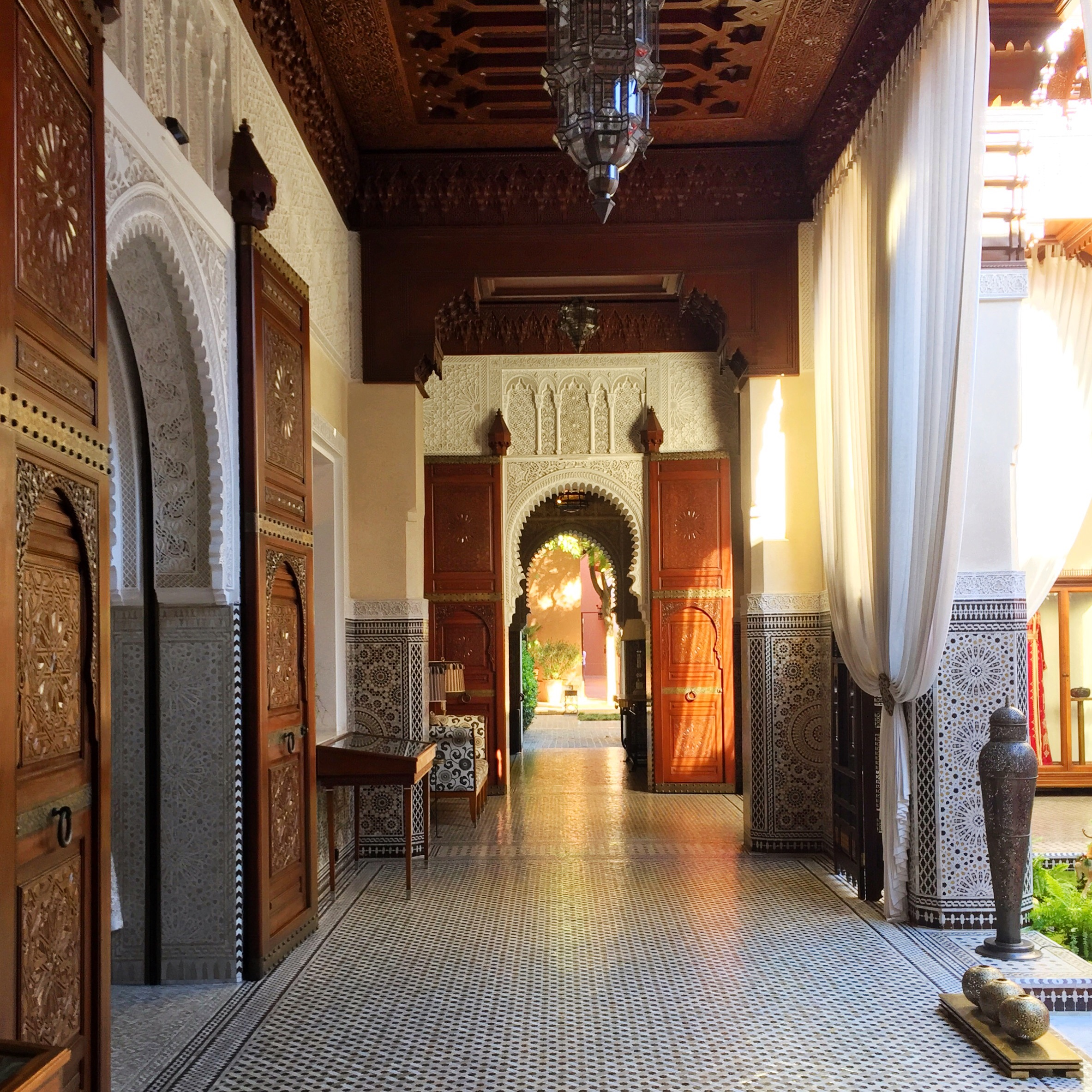 "You Can Live Like Royalty at this Marrakech Hotel Dreamed up by the King of Morocco (Travel + Leisure)   ""Marrakech is a big couscous with 24 vegetables and all the colors,"" my guide Moustapha Chouquir said as he led me and my travel companions through the narrow lanes of the souk in Marrakech."