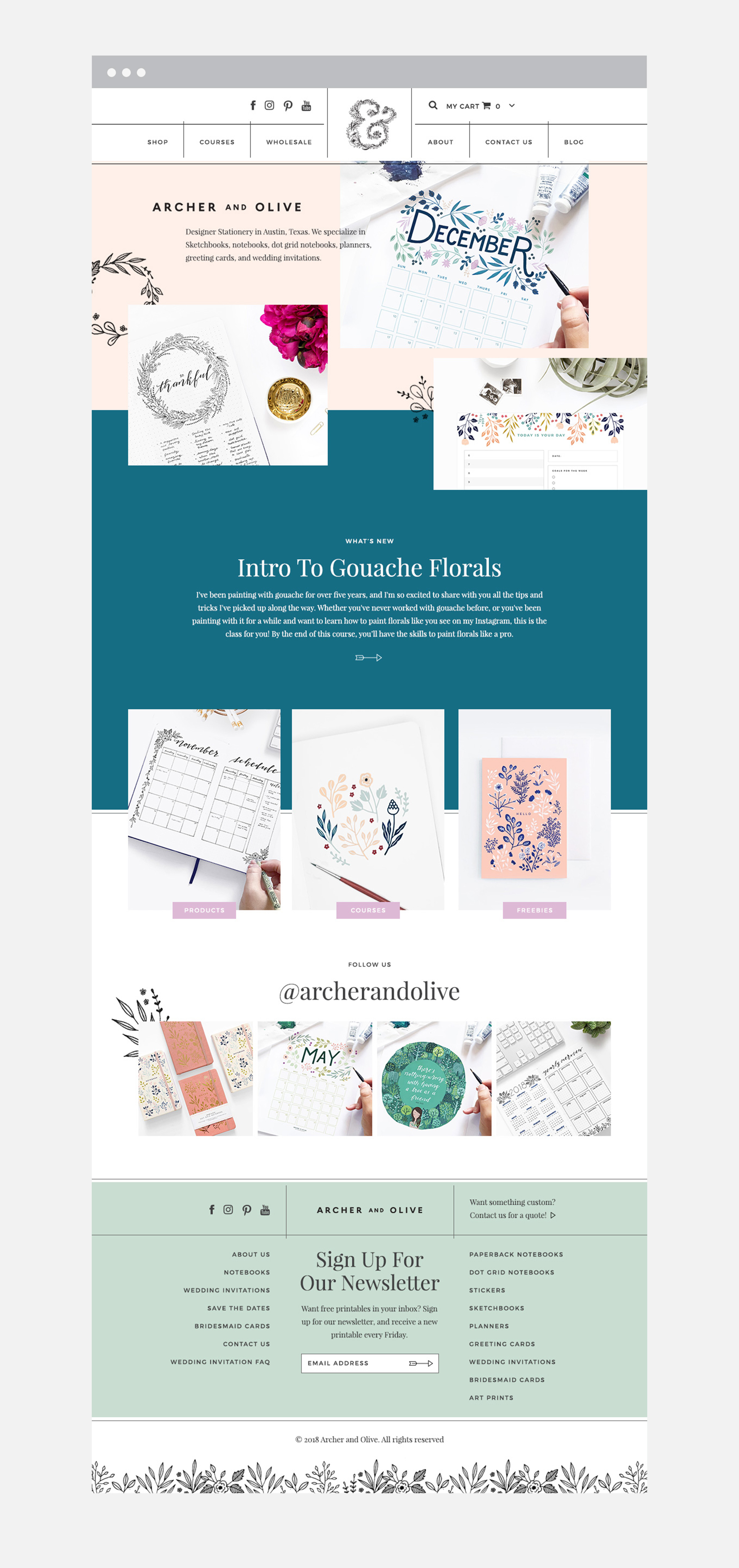 Archer & Olive Web Design in Phoenix by Sonora Leigh Creative Studio