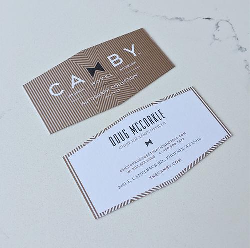 Unique business card design and shape