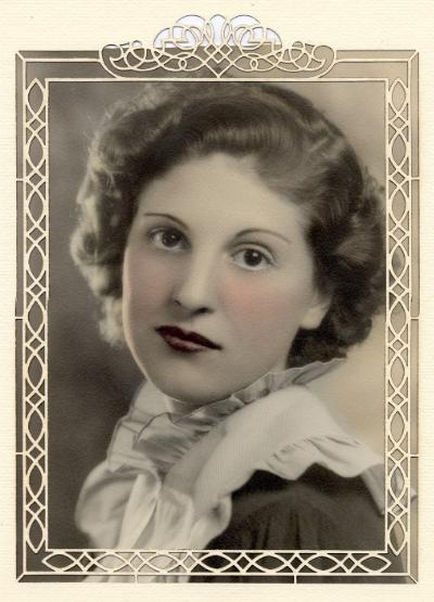 My mother, Bruna Marie Riccomini, Age 15