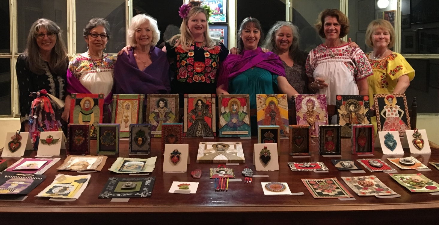 Taken the last night of our tour at our fiesta and art exhibition. There were 8 students, two had to leave early. All were fun loving, kind, creative women...as most people who do art tours are.