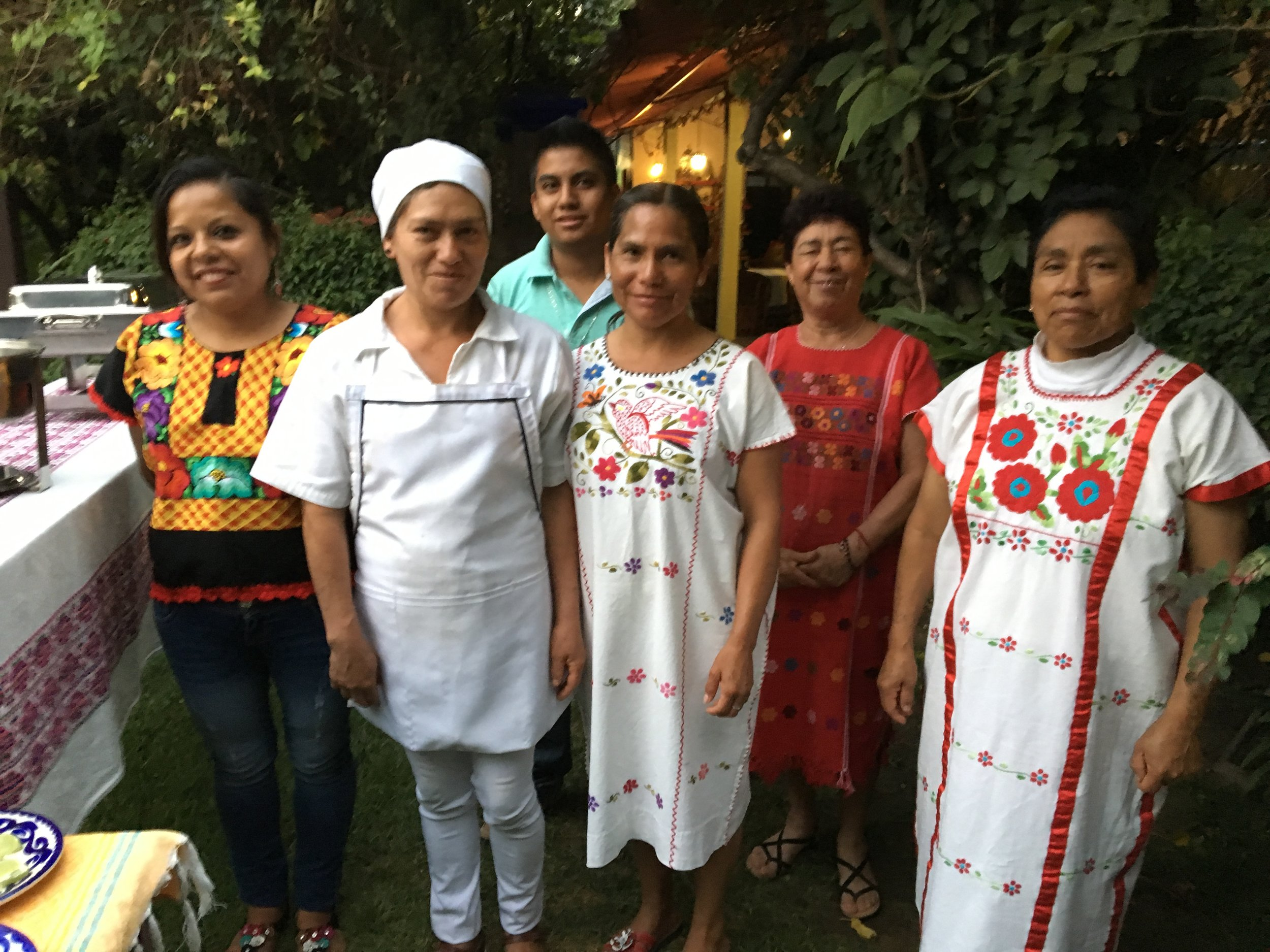 This is some of the staff at the casa. Each one is an angel. None of them speak English but always know exactly what you need.