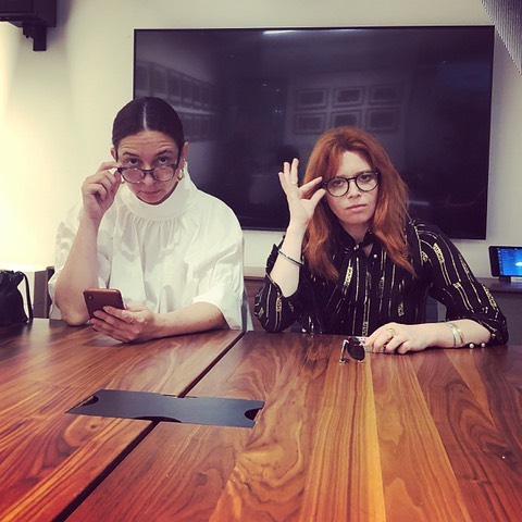 All business!!! Congratulations to @nlyonne  and @princesstagramslam on your Emmy nominations. So honored to be working with these two. A good day for Animal Pictures! #russiandoll #thegoodplace