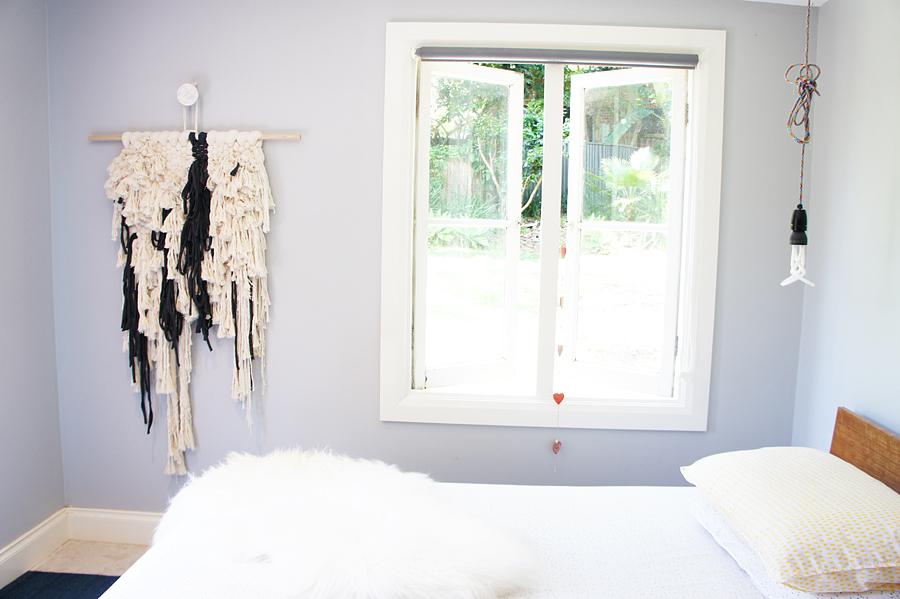 Natalie Jones 'BOHO STORM' Landscape Series Woven Wall hanging Fibre Art Weave Front view 4.jpg