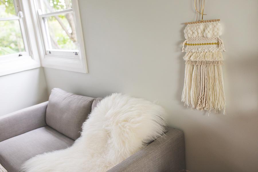 natalie jones contemporary art woven artwork blush series II 2015 woven wall hanging neutral .jpg
