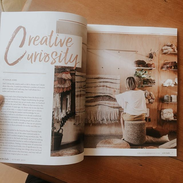 Little bit of shameless self promotion here... 😬 but I was very excited to have @stampington approach me a few months ago to feature my artwork & the studio I designed in the August edition of @inherstudiomagazine magazine. My first magazine feature & my first published piece of writing! If you saw my stories I received my copy in the mail yesterday. Was very surprised to see my article as the first feature & a little mention on the cover 🤭 swipe to the end for the video 👉🏼 you can buy your copy via in her studio or via the link on my website on the 'about me' page. Special shout out to @pollyjanephotography & @gemmanicholsmakeupartistry for keeping a big secret & giving up their time to help make me & my work look so good 🧡 let's just say I'm much more comfortable behind the camera than in front of it 😂 but all in all, a fun experience & a great opportunity to share my work & a little about my studio & my creative process! Thanks to the lovely souls who saw my IG story & messaged me yesterday. I must admit there was a fair bit of excitement to be had here last night & it is safe to say we popped a bottle to celebrate 🍾 #inherstudio #inherstudiomagazine #stampington #magazinefeature #artist #tapestry #studio #creativelifehappylife #dowhatyoulove #mystudio #artiststudio #feature #artwork #creativity #weaver #fibreart