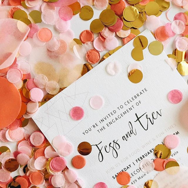 Loved creating this nude geo engagement party invitation for Jess + Trev. All of the pink and gold feels. Photo by the lovely @dressedincopper