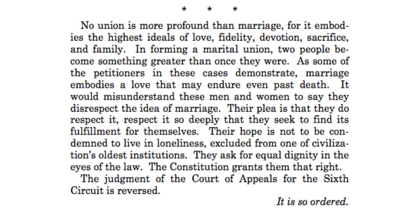 Justice Anthony Kennedy | Same-Sex Marriage