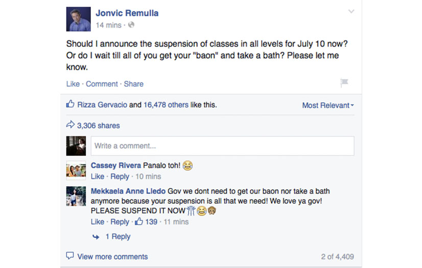 Jovic Remulla Class Suspension Post About Baon