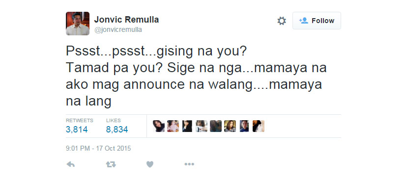 Jovic Remulla Class Suspension Post About Tamad Pa You