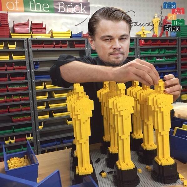 Leonardo DiCaprio   The Art of the Brick