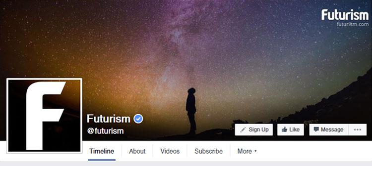Futurism Facebook Profile