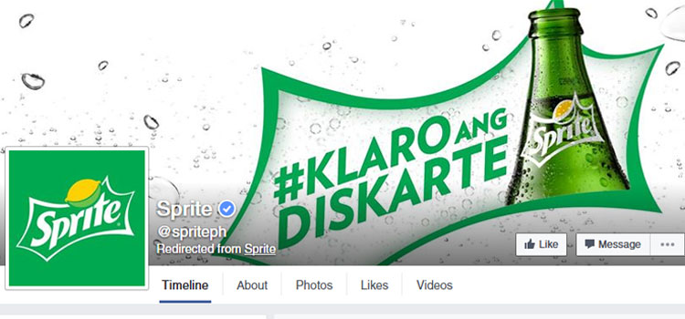 Sprite Facebook Profile