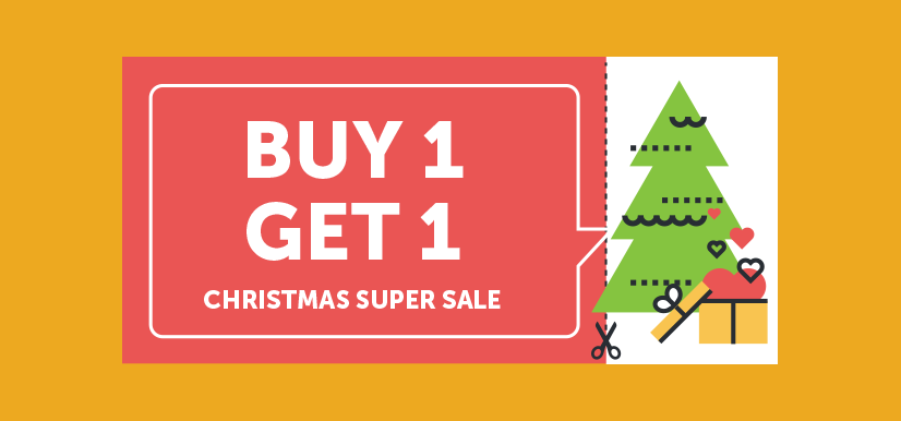 BOGO (Buy One Get One) coupon   Coupons for Christmas