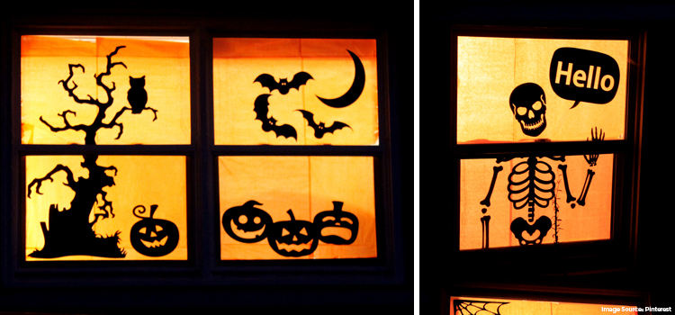 Spooky Window Décor