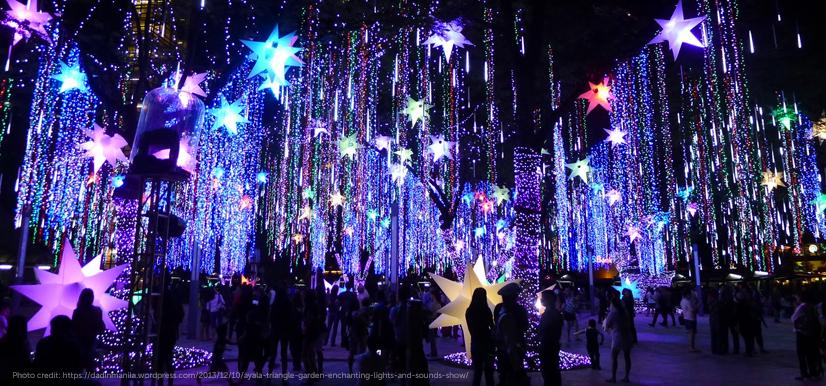 Photo credit: https://dadinmanila.wordpress.com/2013/12/10/ayala-triangle-garden-enchanting-lights-and-sounds-show/