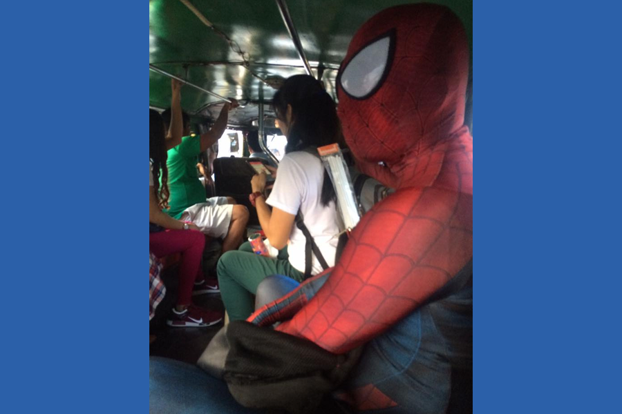 Spidey on a Jeepney - Trending Posts of March