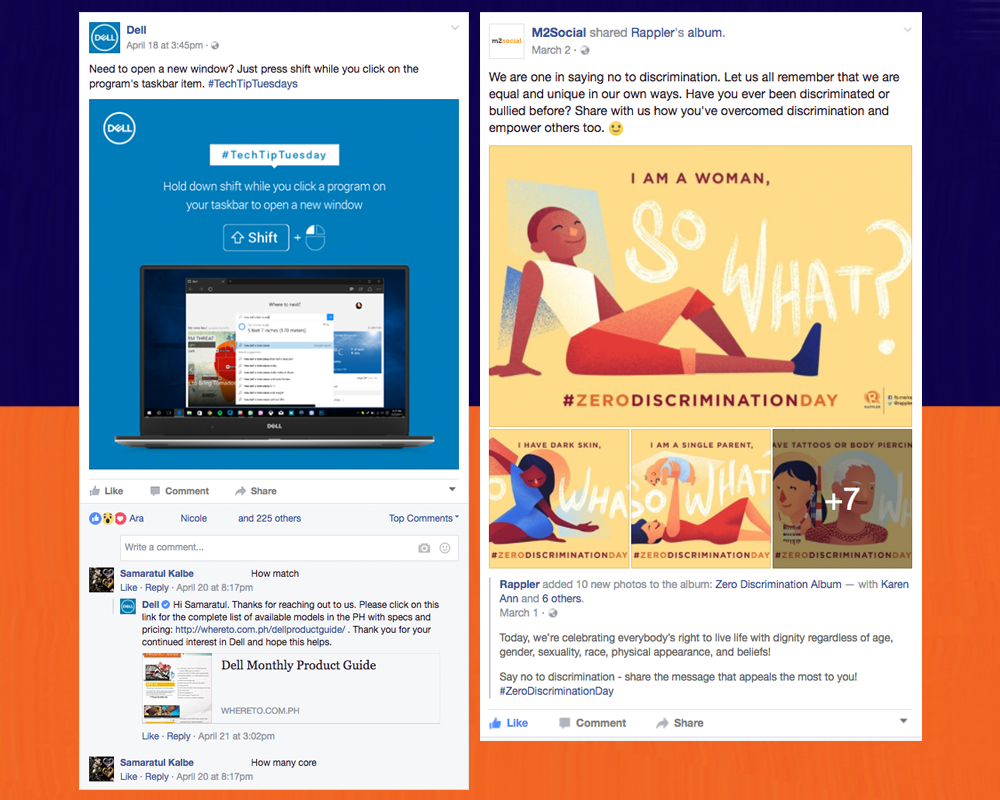 Dell's #TechTipTuesday | M2Social sharing content from Rappler's #ZeroDiscriminationDay post