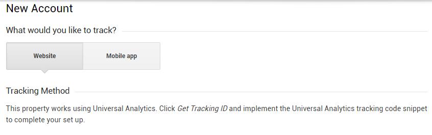 Google Analytics Sign-up Form