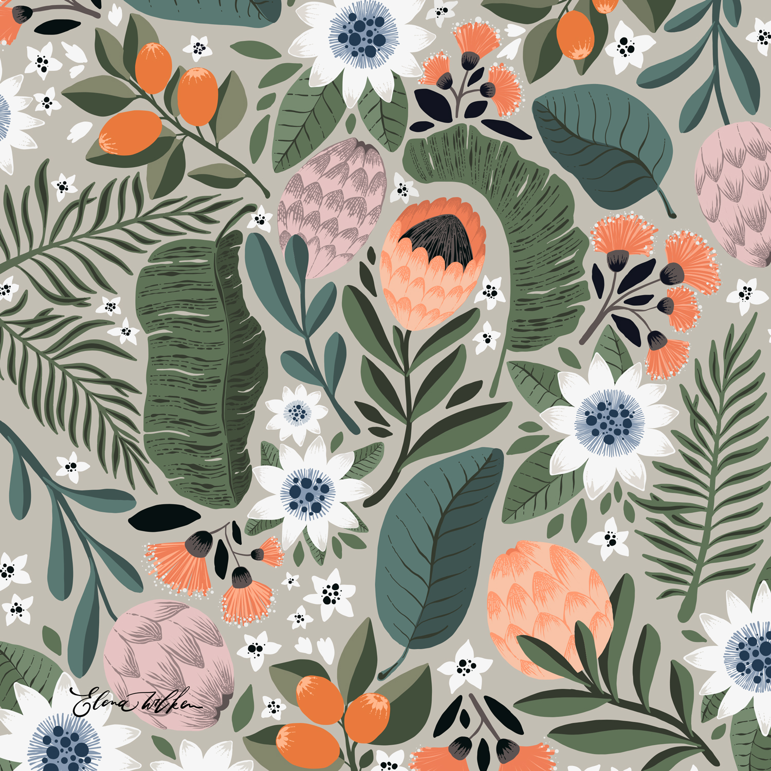 Tropical - Elena Wilken surface pattern design