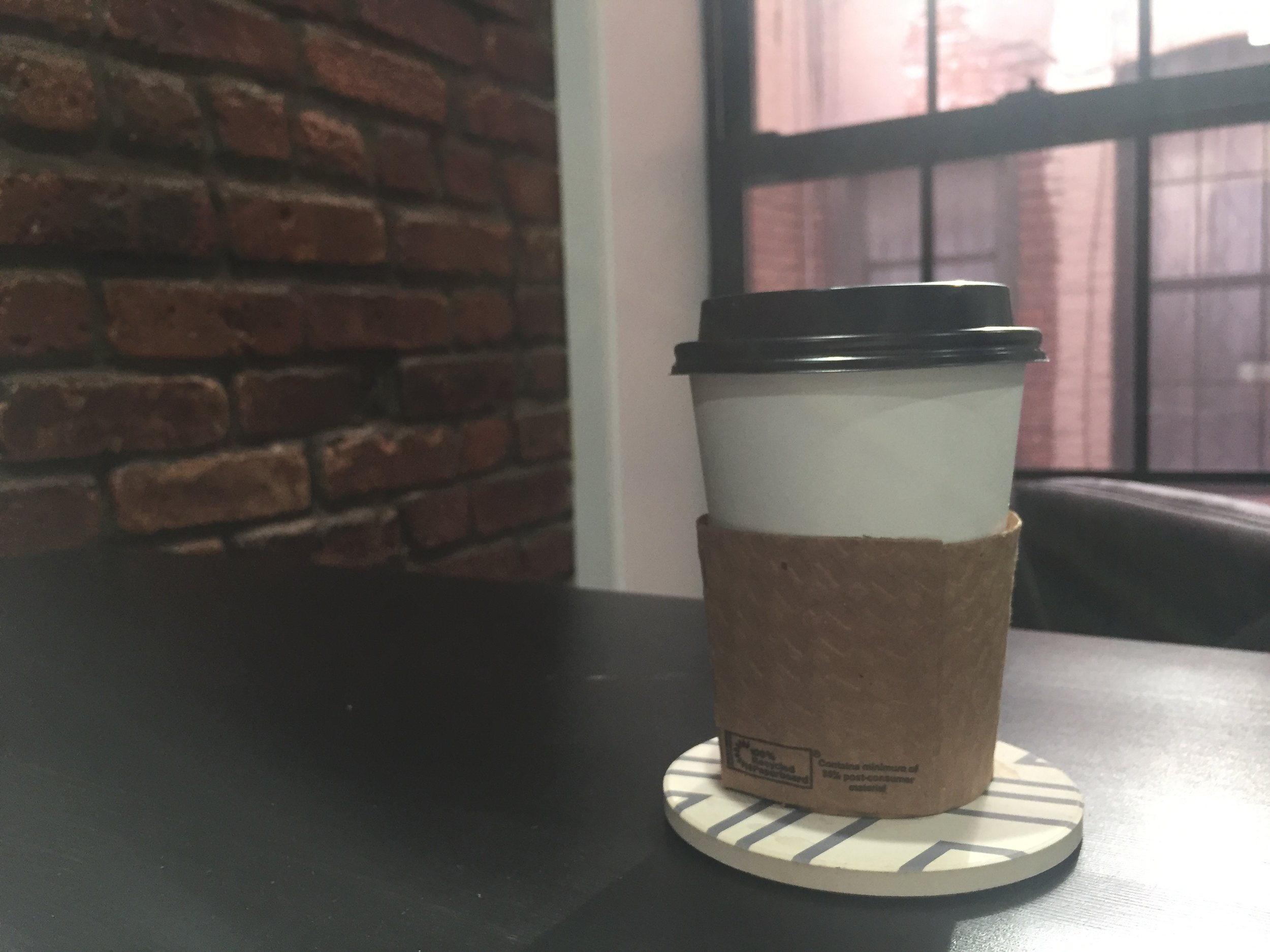 Picture of coffee I drank in the early morning after on and off troubleshooting for several hours.