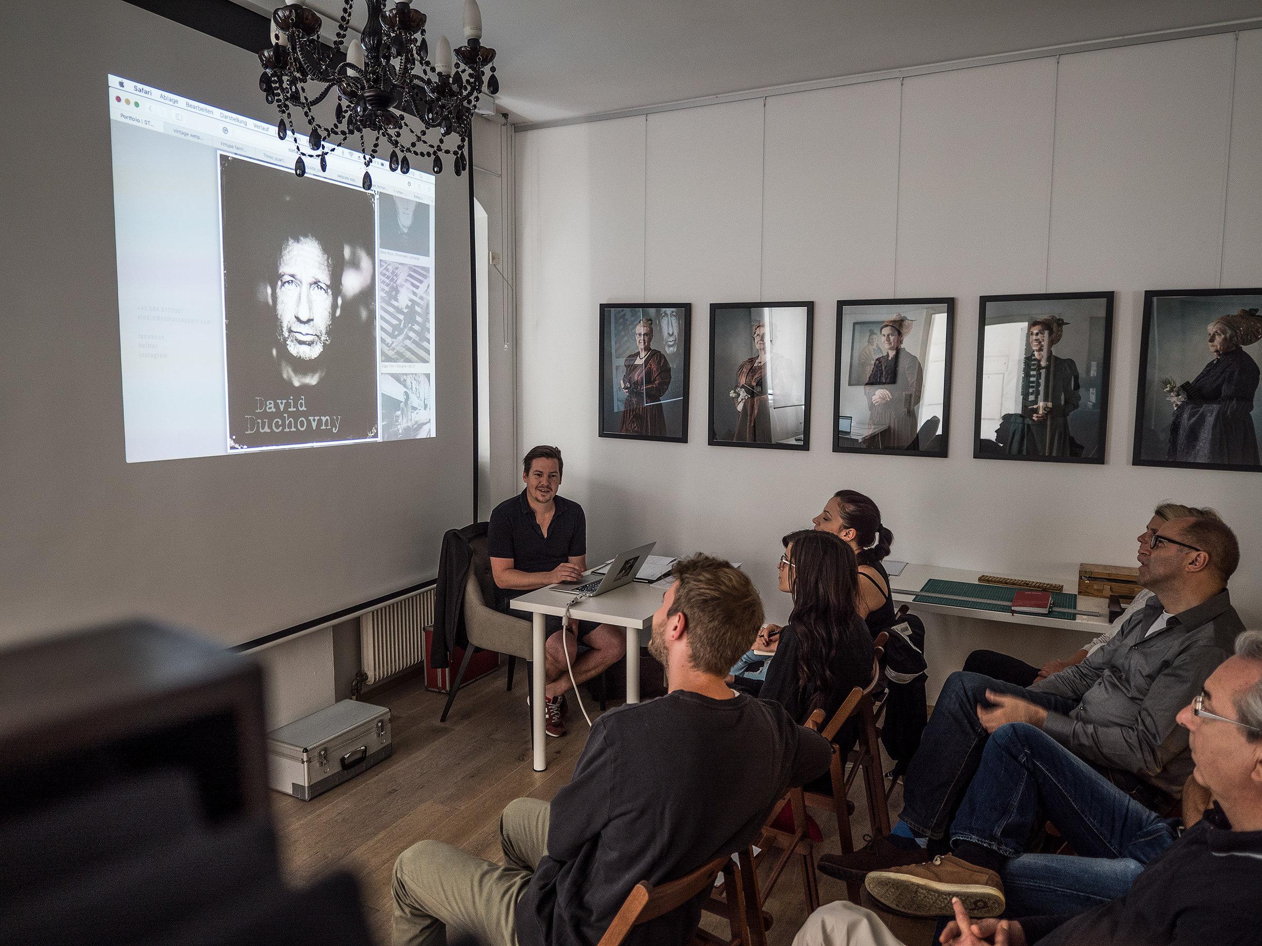 Akte x Star David Duchovny vertraute auch auf die Fähigkeiten von LIK Wetplate Kollodion Referent Stefan Sappert.