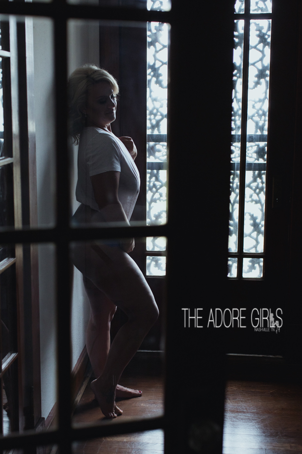 The Adore Girls Boudoir Photography wet tee in window