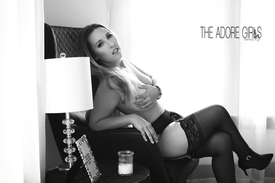The Adore Girls Boudoir Photography black and while topless