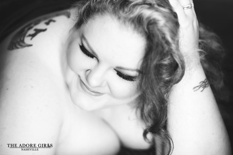 The Adore Girls Boudoir Photography Nashville smile