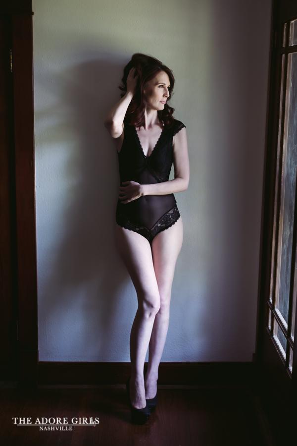 The Adore Girls Boudoir Photography Nashville black bodysuit