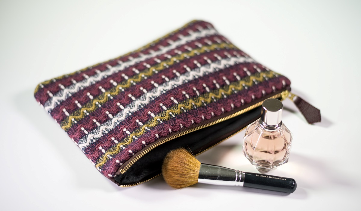 The 'Malham' woven clutch
