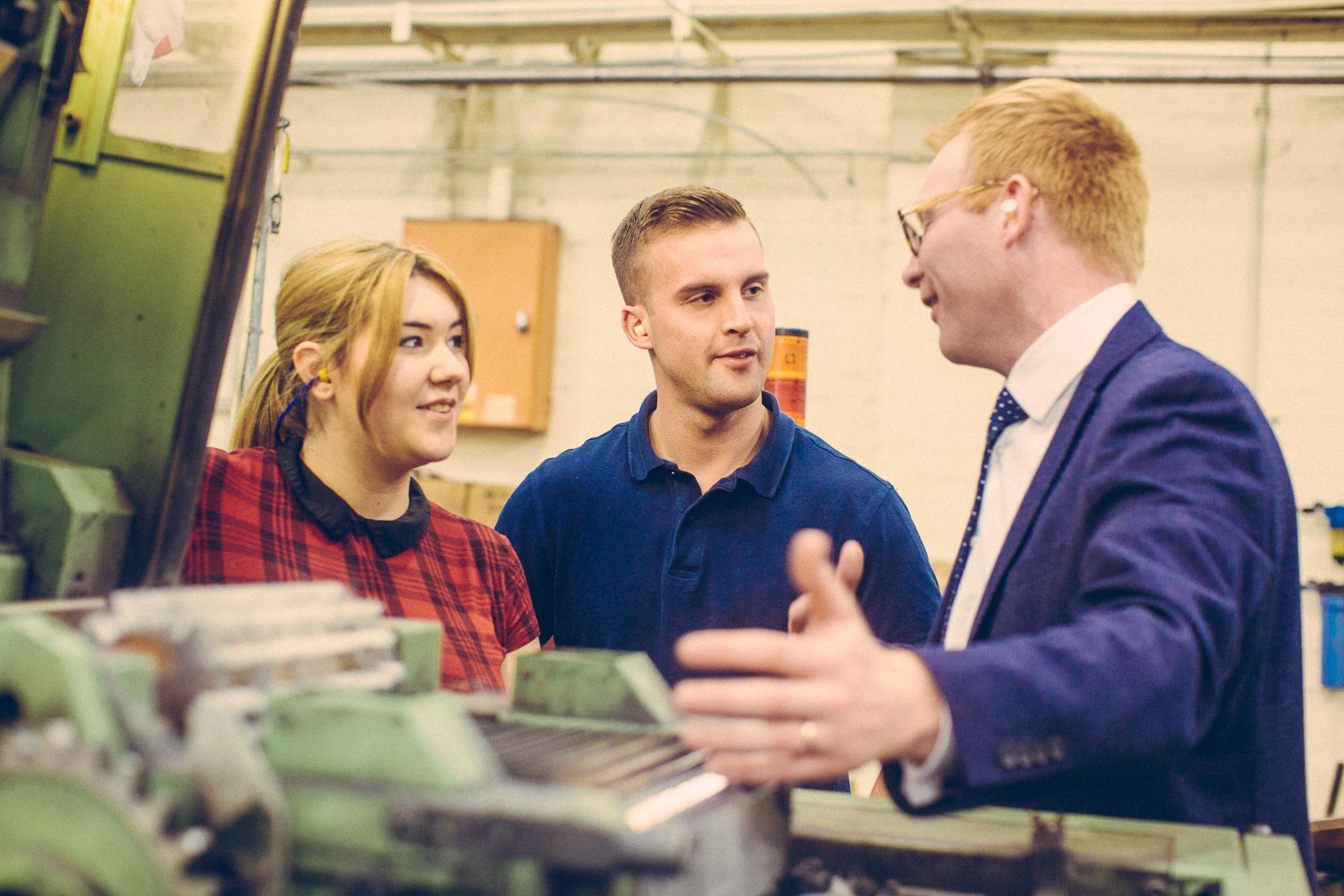 Trainees Alana Williamson & Ed Naylor with Sales Manager Gareth Jones